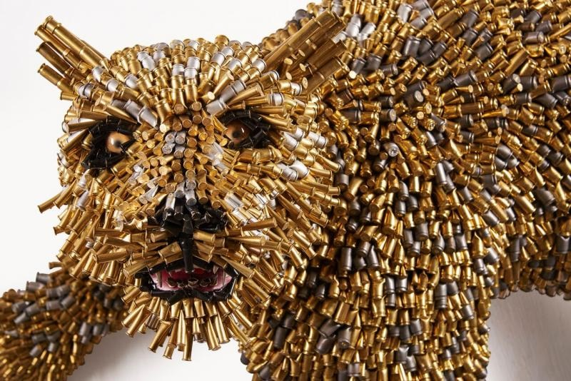 , Bullet Shell Art is Unstoppable: Works of Artist Federico Uribe shown by Adelson Galleries