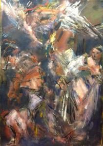Gislaine Howard After Caravaggio, 2014 Oil on flax 127 x 102 cm Courtesy The Cynthia Corbett Gallery