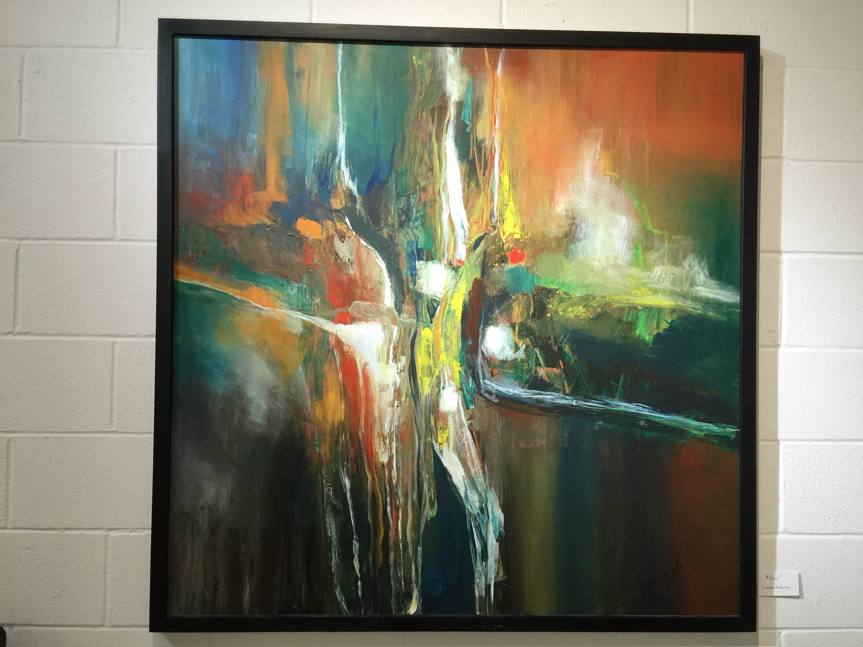Watercolor art society houston tx - Artist Joseph Culotta Abstract Art Presented By The Gallery Girls Shown At Swank Interiors Houston Tx
