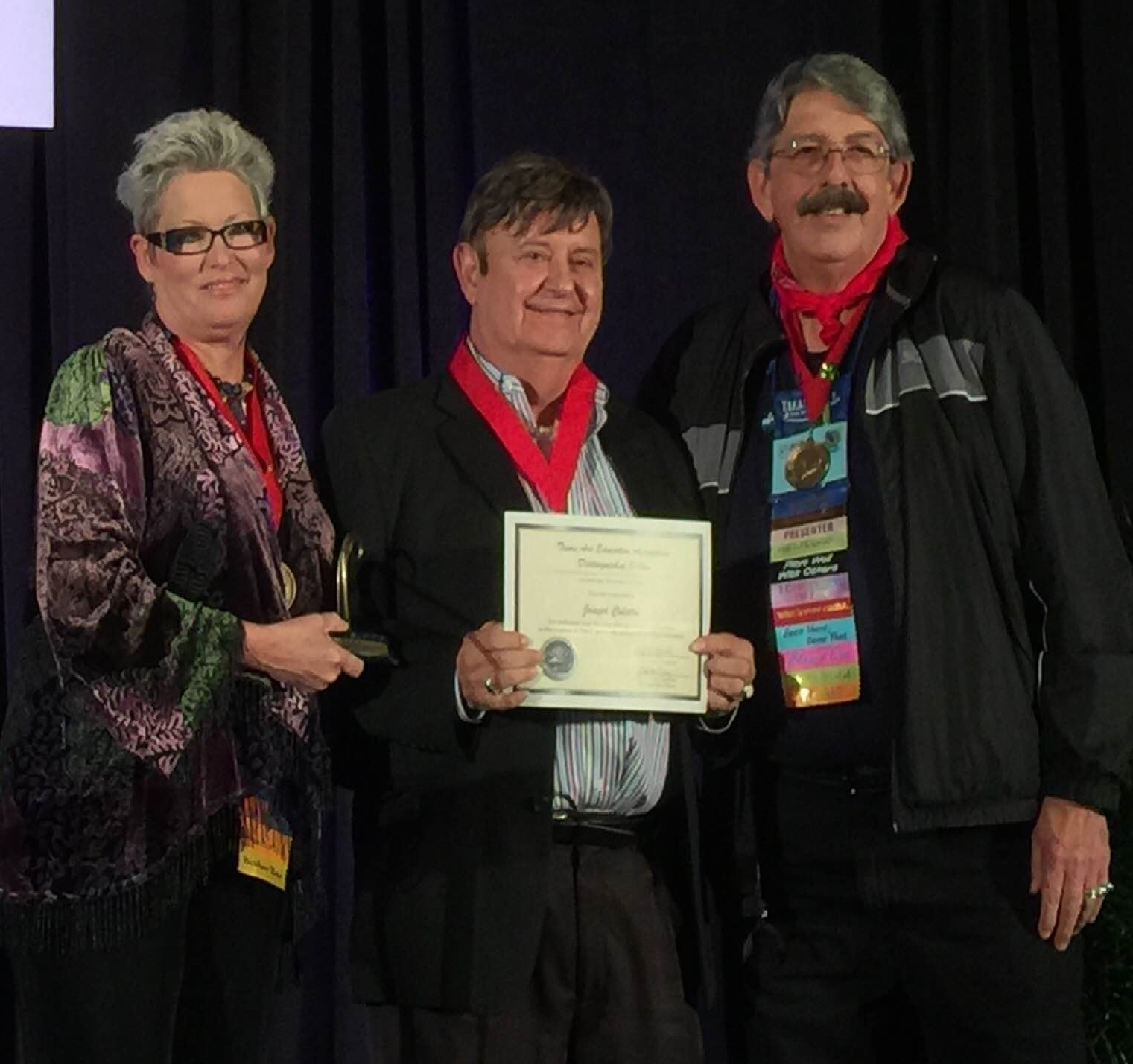 """, """"You Live Forever Through Your Students"""" : Artist Joseph Culotta Inducted as Distinguished Fellow of Texas Art Education Association (TAEA)"""