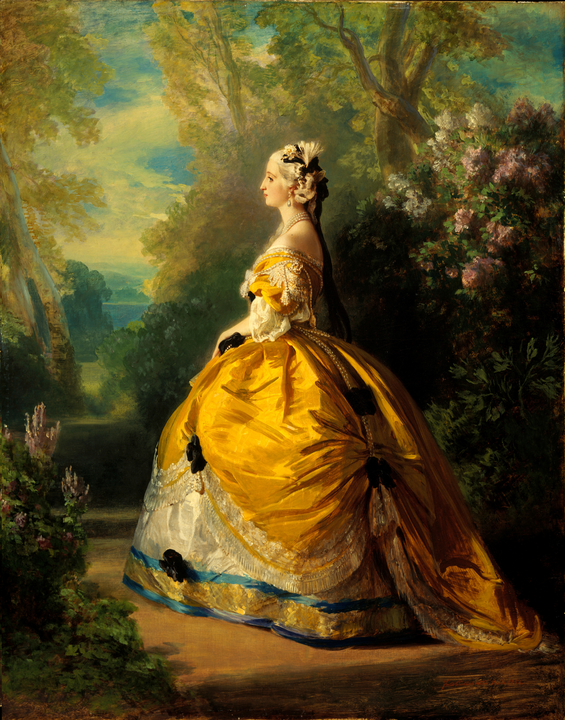 Franz X. Winterhalter, Empress Eugénie (Eugénie de Montijo, Condesa de Teba) in 18th-Century Costume, 1854, oil on canvas, The Metropolitan Museum of Art, New York.