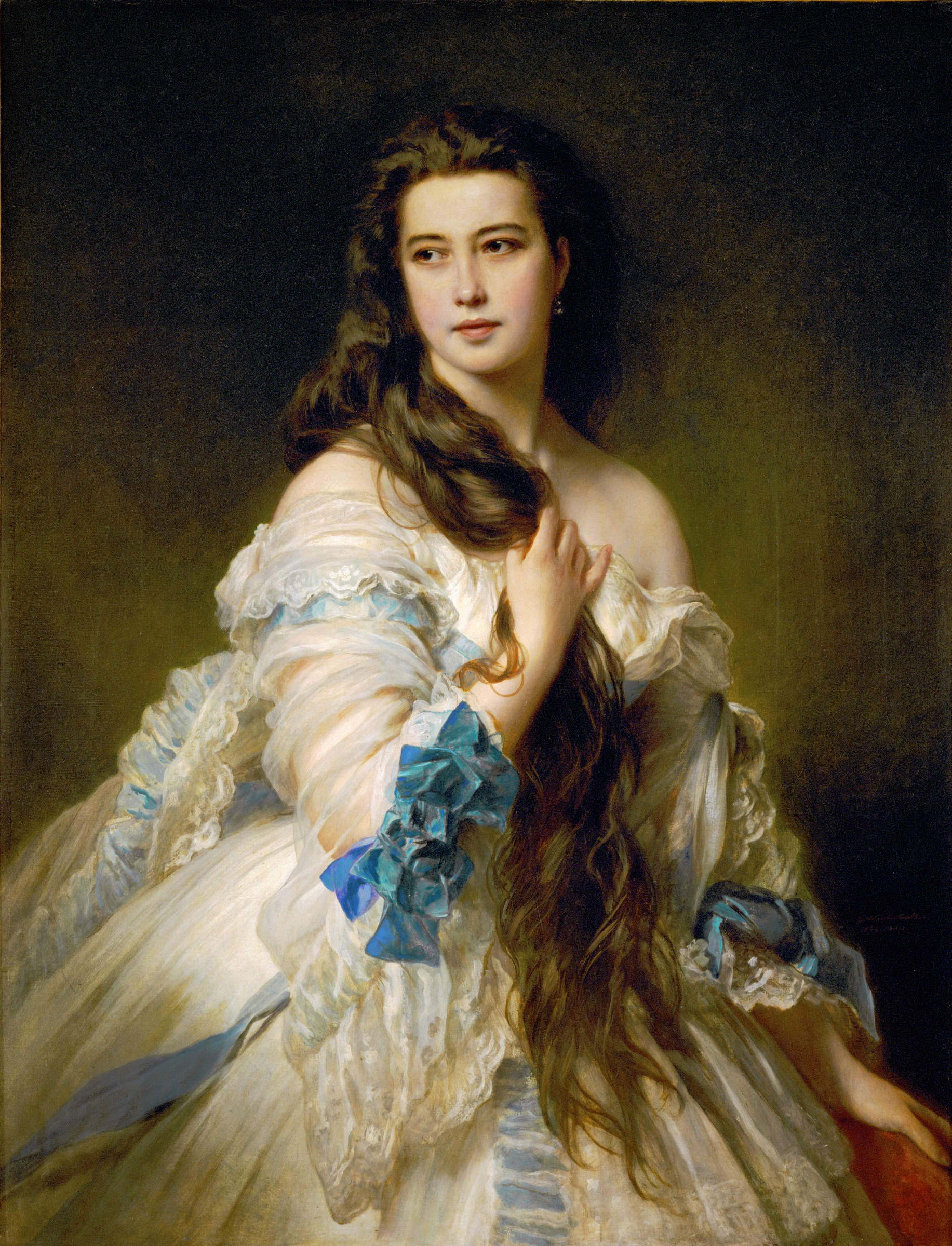 Franz X. Winterhalter, Madame Rimsky-Korsakov, 1864, oil on canvas, Musée d'Orsay, Paris, on permanent loan from the Louvre.