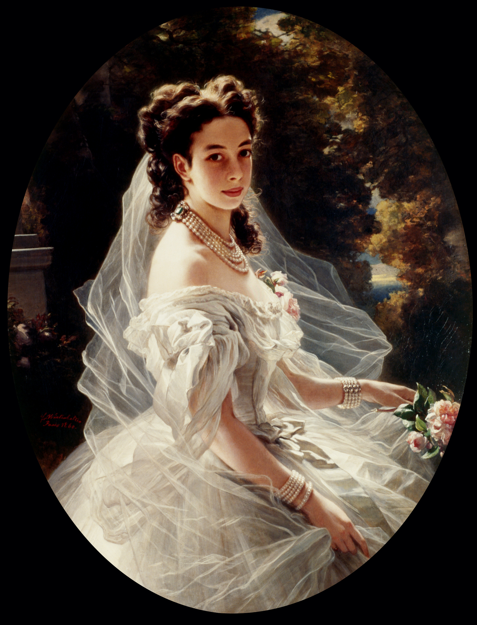 Franz X. Winterhalter, Pauline Sándor, Princess Metternich, 1860, oil on canvas, private collection.