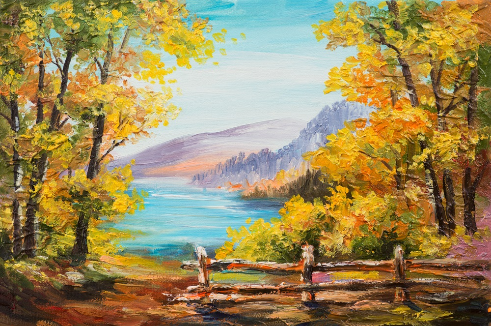 Bob ross s happy little trees a one man painting revival for Photos to paint