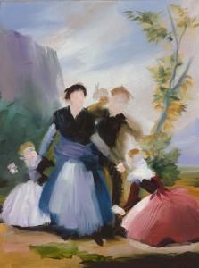 Elise Ansel Spring I, 2015 Oil on linen 40.6 x 30.5 cm Courtesy The Cynthia Corbett Gallery