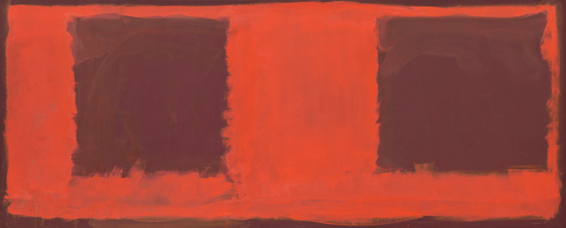 artist Mark Rothko, Untitled (Seagram Mural sketch), 1959, oil and mixed media on canvas, National Gallery of Art, Washington, Gift of The Mark Rothko Foundation, Inc. © 1998 by Kate Rothko Prizel and Christopher Rothko courtesy Museum  of Fine Arts Houston