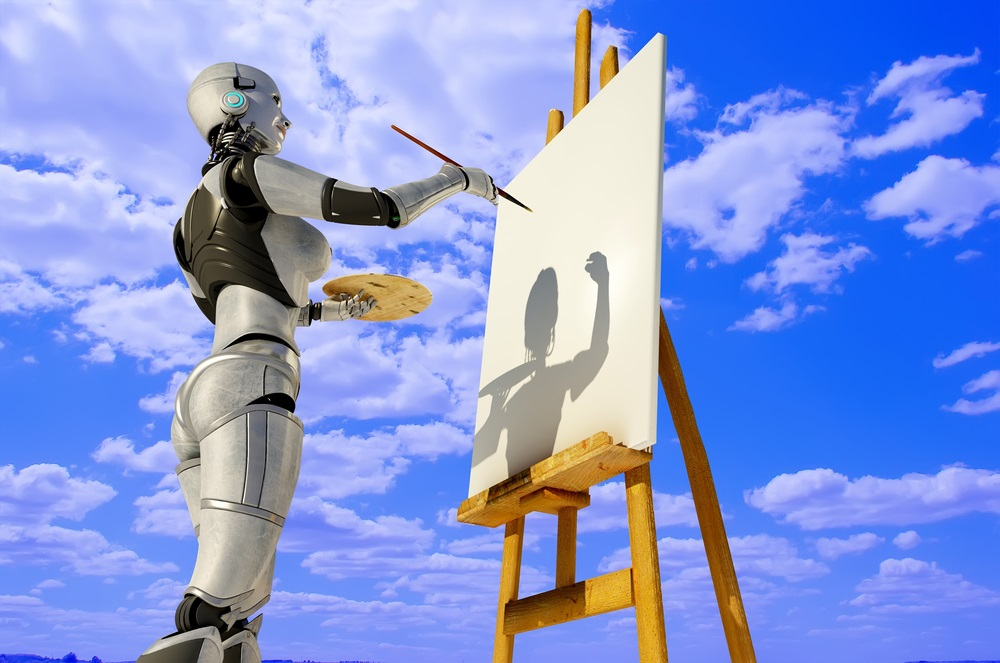 creative robots, art after the singularity, robotics industry, artificial intelligence, AI, art, fine art