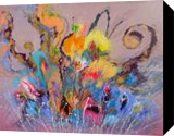 LARGE Colorful Painting, Paintings, Abstract,Fine Art, Botanical,Fantasy,Floral,Nature, Acrylic,Canvas, By Irini Karpikioti
