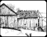 """Baring Its Bones"", Drawings / Sketch, Fine Art, Landscape, Ink, By William Clark"