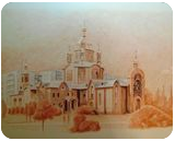 Christo-Rozhdestvensky Cathedral of Severodonetsk, Drawings / Sketch,Graphic,Paintings, Fine Art,Photorealism,Realism, Cityscape,Memorial, Painting, By Oleg Kozelskiy