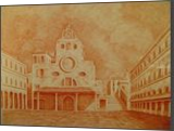 Church of San Giacomo di Rialto, Drawings / Sketch,Graphic,Paintings, Fine Art,Realism, Architecture,Cityscape,Historical,Religious, Painting, By Oleg Kozelskiy