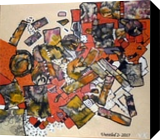 Dimension, Collage,Paintings, Abstract, Decorative, Acrylic,Canvas,Mixed, By Maria Hristova Koleva
