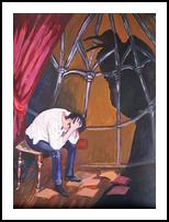 *E.A.Poe.The Raven*(acrylic on paper), Illustration, Fine Art, Fantasy, Acrylic, By Victoria Trok