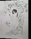 *Eve*, Graphic, Fine Art, Fantasy, Pencil, By Victoria Trok