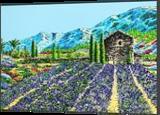 """Fleurs de Lavande"", Paintings, Impressionism, Landscape, Acrylic, By GORFI GORFI"