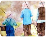"""Fond Memories"", Paintings, Realism, Children, Painting, By William Clark"