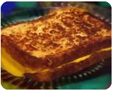 """""""Grilled Cheese Sandwich"""", Photography, Pop Art, Decorative, Photography: Stretched Canvas Print, By Michael C C Bertsch"""