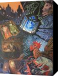 Gustav Meyrink *The Angel of the West Window*, Paintings, Fine Art, Fantasy, Acrylic, By Victoria Trok