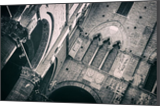 Inner Yard of Palazzo Pubblico in B&W, Architecture, Photography, Photorealism, Architecture, Documentary, Memorial, Photography: Metal Print, Photography: Photographic Print, Photography: Premium Print, Photography: Stretched Canvas Print, By Ira Silence