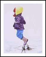 """Jump"", Paintings, Realism, Children, Painting, By William Clark"