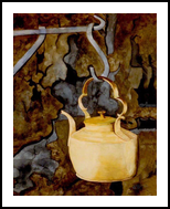 """Kettle"", Paintings, Realism, Still Life, Painting, By William Clark"