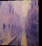 Il Rio del Lovo, Venezia, Paintings, Impressionism, Cityscape, Acrylic,Canvas, By slobodan dusan paunovic