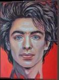 *Lucifer*(acrylic on canvas), Paintings, Fine Art, Portrait, Acrylic, By Victoria Trok