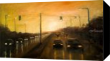 On the way home, Paintings, Impressionism, Cityscape, Oil,Wood, By Angela Suto