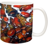 """Pebbles"", Paintings, Opticality,Photorealism, Figurative,Nature,Seascape, Canvas,Oil,Painting, By Kostakis Manelis"