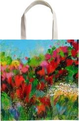 Poppies, Paintings, Abstract, Botanical,Floral,Landscape,Nature, Acrylic,Canvas, By Irini Karpikioti