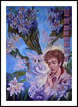 *Portrait of Ivo Pogorelich.(No smoking)*(acrylic on cardboard), Paintings, Fine Art, Portrait, Acrylic, By Victoria Trok
