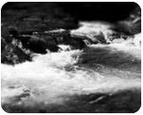 """""""Rapids in the winter"""", Photography, Commercial Design, Landscape, Photography: Stretched Canvas Print, By Michael C C Bertsch"""