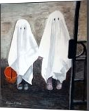 """Reluctant Ghosts"", Paintings, Realism, Children, Watercolor, By William Clark"
