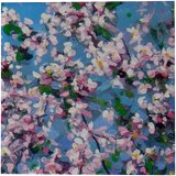 """Spring"", Paintings, Expressionism,Impressionism, Botanical,Floral,Landscape, Acrylic,Canvas, By Irini Karpikioti"