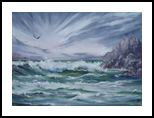 """After the Storm"", Paintings, Fine Art,Impressionism, Seascape, Oil,Painting, By Colleen Lambert"