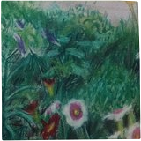 """Summer Garden"", Pastel, Impressionism,Primitive, Floral,Landscape, Pastel, By Nick Mitchell"