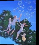 *The Birthday*(acrylic on canvas), Paintings, Fine Art, Fantasy, Acrylic, By Victoria Trok