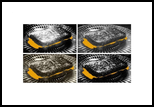 """""""The Grilled Cheese Sandwiches BW"""", Photography, Pop Art, Analytical art, Photography: Stretched Canvas Print, By Michael C C Bertsch"""