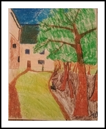 Village, Paintings, Impressionism, Cityscape, Pastel, By MD Meiser