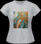 """Viscosity II"", Decorative Arts,Paintings, Abstract,Minimalism,Modernism, Conceptual,Decorative,Landscape, Acrylic,Canvas,Epoxy,Ink, By Irene Chaleli"