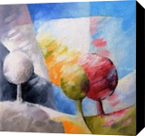 010 arbres, Paintings, Abstract, Landscape,Nature, Canvas,Oil, By Beatrice BEDEUR