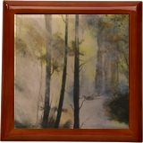 Forest LIght, Paintings, Impressionism, Landscape, Watercolor, By Stephen Keller