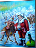 Santa, Folk Art, Graphic, Illustration, Paintings, Poster, Expressionism, Fine Art, Romanticism, Satire, Animals, Cartoon, Children, Conceptual, Oil, By gary mcmullan