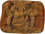 Ganesha in Pensive Mood, Paintings, Expressionism, Figurative, Canvas, By Ajay Harit
