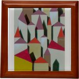 Diagram of a city, Paintings, Abstract, Fine Art, Architecture, Oil, By federico cortese