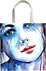Charming girl, Paintings, Expressionism, Impressionism, Portrait, Watercolor, By Kovacs Anna Brigitta