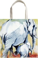Elephant with baby, Paintings, Impressionism, Animals, Watercolor, By Kovacs Anna Brigitta