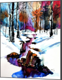 Winter forest, Paintings, Impressionism, Landscape, Watercolor, By Kovacs Anna Brigitta