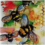 Working bees, Paintings, Impressionism, Animals, Watercolor, By Kovacs Anna Brigitta