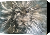 The Lion Sleeps Tonight, Paintings, Expressionism, Animals, Acrylic, By Sally Lu Wiedmont